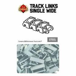 Brickmania Track Links™ - Chevron Single Wide - Steel - x200