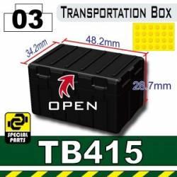 Большой ящик для транспортировки TB415 черный